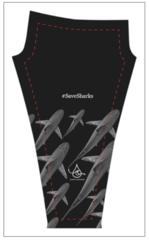 BRAND NEW!!! Full length Sandbar School Yoga #SaveSharks design. Uber comfy 3 inch waist band.