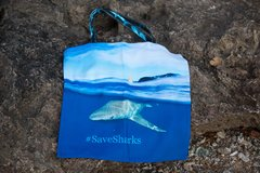 """The Shark Reusable Bag"" #SaveSharks #SaveTheOcean Sandbar shark and Tiger Shark Design"