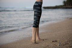 The Tiger Shark Capri Design Yoga/Swim/Run/Surf/Paddle/casual Capri cut legging. Quick Dry, comfortable and stretchy.