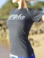 Unisex Size/Style Aloha shark Research and Conservation shirt One Ocean Diving & Research and Water Inspired in Heather Black