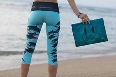 """The Dolphin Party"" on Sea-Foam Ocean-turquoise aqua blue #KeepThemWild"