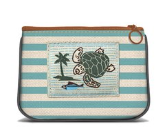 Sea Turtle - Canvas Small Zipper Pouch
