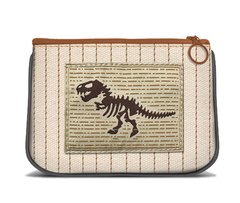 Dinosaur - Canvas Small Zipper Pouch