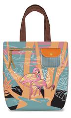 Flamingo Canvas Shoulder Tote