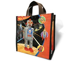 Robot - - Recycled Lunch Bag