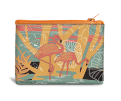 Flamingo Canvas Coin Bag