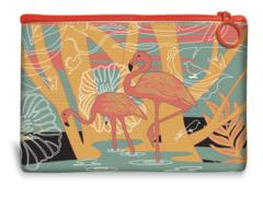 Flamingo Canvas Mini Pouch