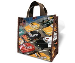 Race Car - Recycled Lunch Bag