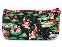 Pond Flower Pencil Pouch - Quilted