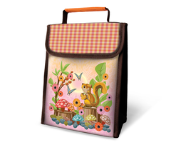 Squirrel Insulated Lunch Sack