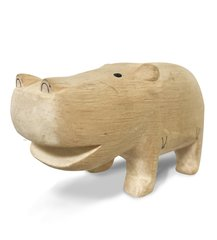 White Pure Wood - Hippo
