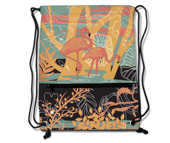 Flamingo Drawstring Backpack