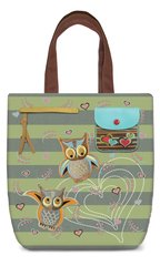 Owl Canvas Shoulder Tote