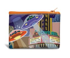 UFO Canvas Coin Bag