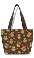 Smarty Pattern Fabric Quilted Lunch Tote