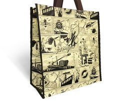 Retro Comic Recyclable Grocery Bag