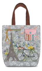 Paris Trip Canvas Shoulder Tote