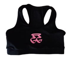 GETGO LADIES SPORTS BRA (BLACK/PINK)