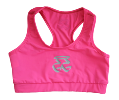 GETGO LADIES SPORTS BRA (NEONPINK/LIGHTGRAY)