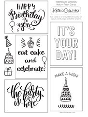 Vellum Flash Cards-Birthday Wishes