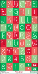 Alphabet Sheet - Christmas Whimsy