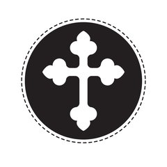 "Cross - 2"" Stamp"