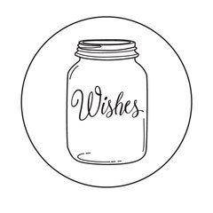 Stamp of the Week-April 16-Mason Jar-Wishes