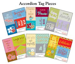 BUNDLE- Accordion Tag Pieces