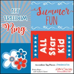 Freedom & Fun Accordion Tag Pieces