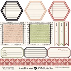 Journal Cards - French Garden