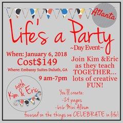 Life's a Party Day Event -Atlanta, January 6, 2018