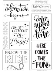 Vellum Flash Cards-Believe In the Magic