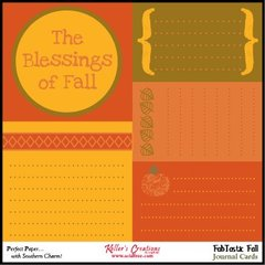 Journal Cards - FabTastic Fall