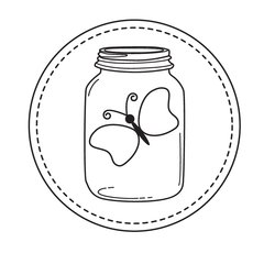 *Stamp of the Week-April 9-Mason Jar-Butterfly