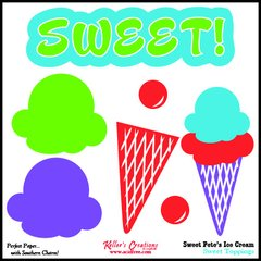 Toppings Card/Ice Cream - Sweet Pete's Candy
