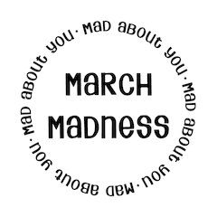 "March Madness-2"" Stamp"