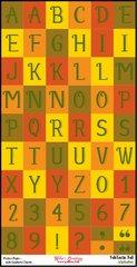 Bulk Pack-Alphabet Sheet-FabTastic Fall