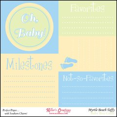Milestones/Baby Boy- Clearance-Myrtle Beach Taffy