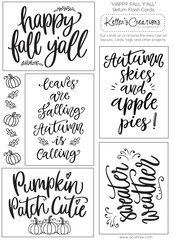 Vellum Flash Cards-Happy Fall, Y'all