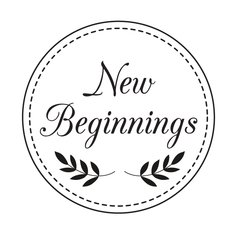 "New Beginnings - 2"" Stamp"