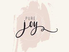 Pure Joy - French Garden Flash Card