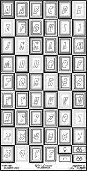 Bulk Pack-Alphabet Sheet-B & W 2