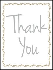 Thank You - Southern Sparkle Flash Card