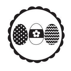 "Easter Eggs - 2"" Stamp"
