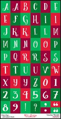 Alphabet Sheet - Christmas Merriment