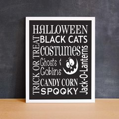 Halloween Word Art
