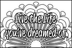 Live the Life - XL Flash Card, Color It Fast!