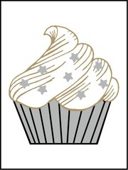 Cupcake - Southern Sparkle Flash Card