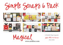 Simple Scraps 6 Pack-Magical