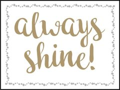 Always Shine - Southern Sparkle Flash Card